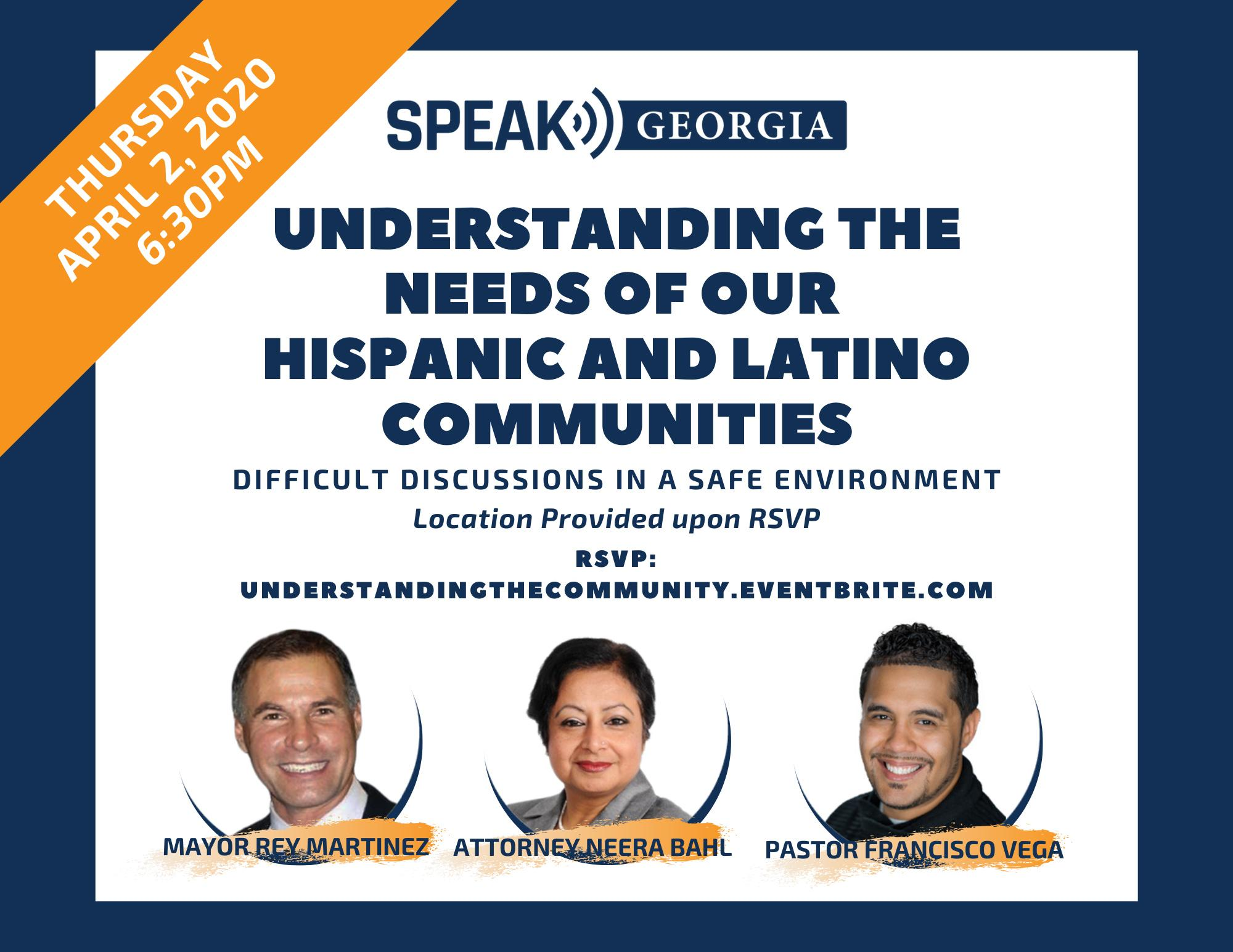 Speak Georgia - Townhall: Understanding the needs of the Hispanic and Latino Communities - April 2, 2020